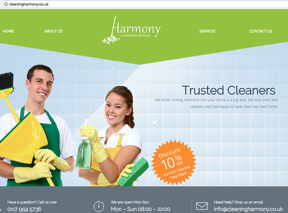 bath-website-design-harmony-cleaning